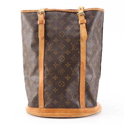 Louis Vuitton Bucket Bag in Monogram Canvas and Leather