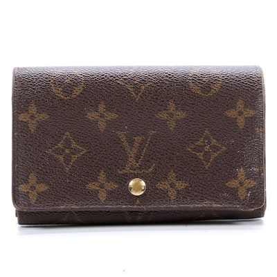 Louis Vuitton Porte-Monnaie Tresor Wallet in Monogram Canvas