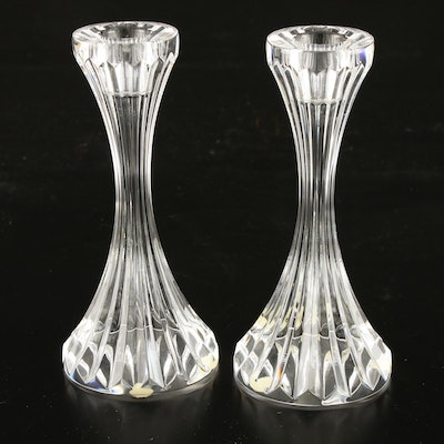 "Pair of Baccarat ""Massena"" Crystal Candlesticks"