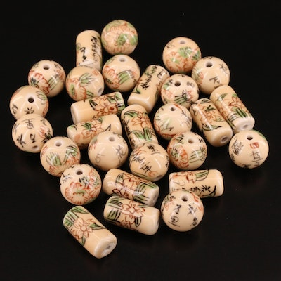 Loose Asian Glass Beads