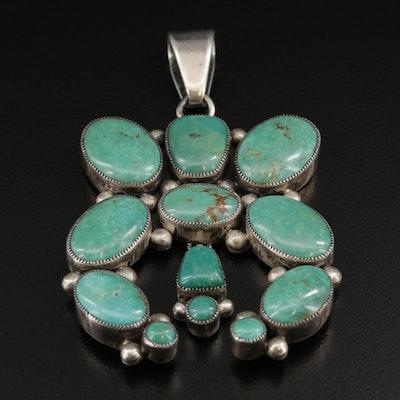 Dee Nez Navajo Diné Sterling Turquoise Pendant