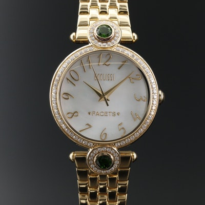 Ecclissi Gemstone and Stainless Steel Fashion Wristwatch