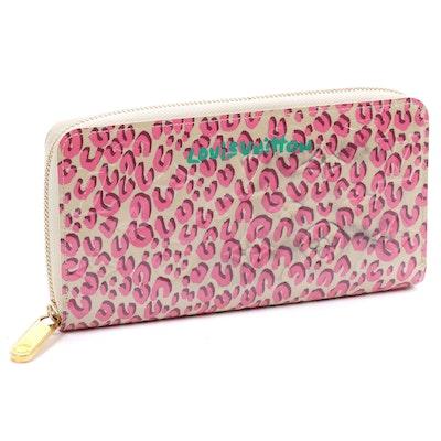 Louis Vuitton Stephen Sprouse Monogram Vernis Leopard Zippy Wallet