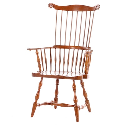 Harden Cherry Comb-Back Windsor Style Armchair, Late 20th Century