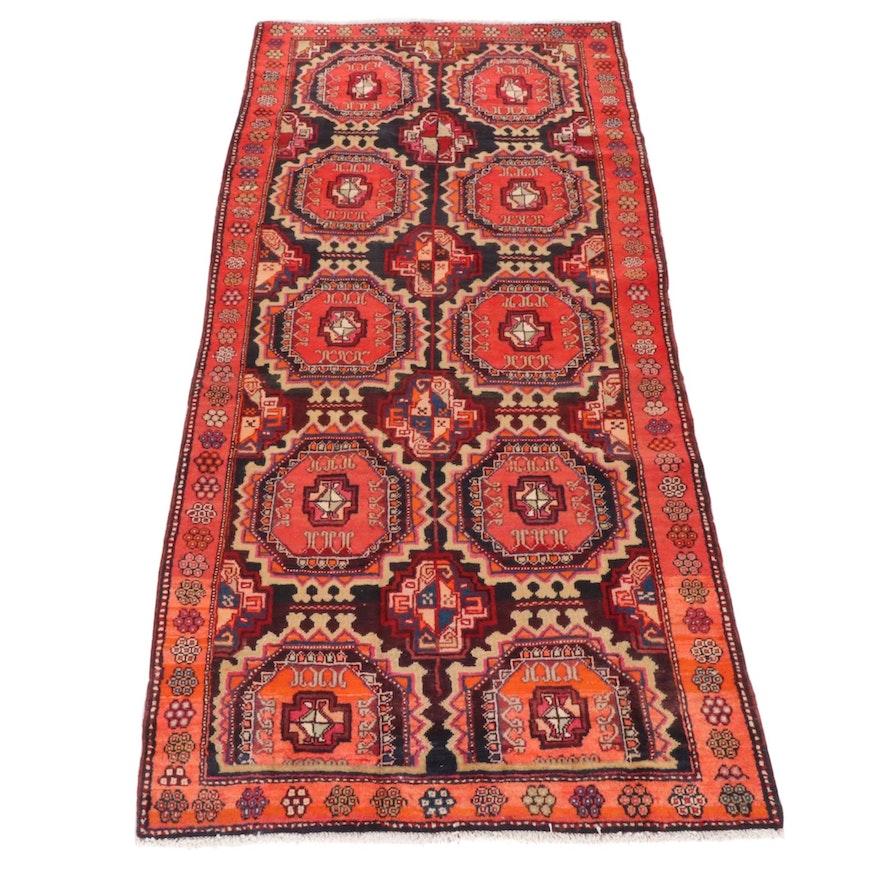 4'6 x 10'0 Hand-Knotted Persian Hamadan Rug