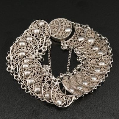 835 Silver Filigree Bracelet