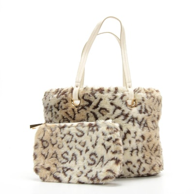 Samantha Thavasa Faux Fur Shoulder Bag and Pochette