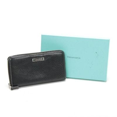 Tiffany & Co. Zip Wallet in Black Pebble Grain Leather