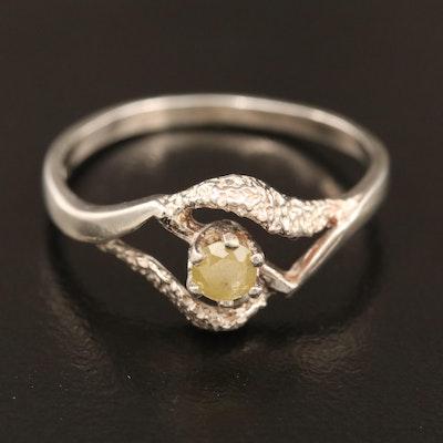 Sterling Silver Diamond Openwork Ring