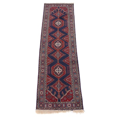 2'3 x 7'11 Mosque Collection Machine-Made Belgian Caucasian Kazak Runner