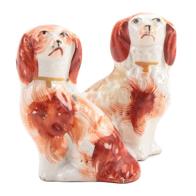 Pair of English Staffordshire Spaniels, 19th Century