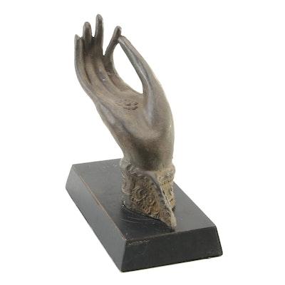 Thai Bronze Hand of Buddha in Vitarka Mudra