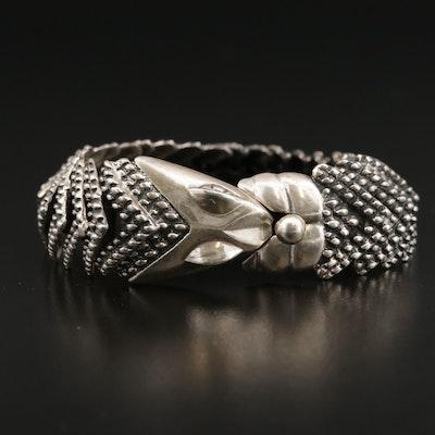 Vintage Signed Mexican D'Molina Sterling Serpent Bracelet