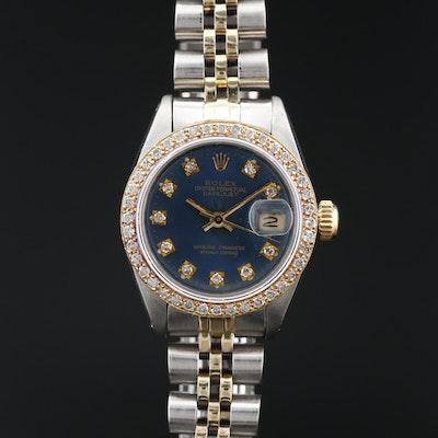 1981 Rolex Datejust  14K , 18K and Stainless Steel Diamond Automatic Wristwatch