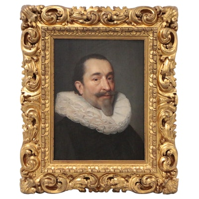 Follower of Cornelis van der Voort Oil Portrait of Gentleman, 17th Century