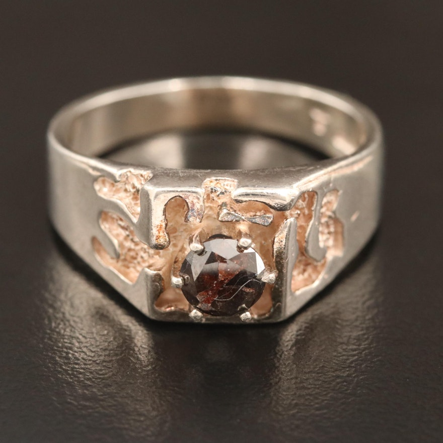 Sterling Silver 0.67 CT Diamond Ring