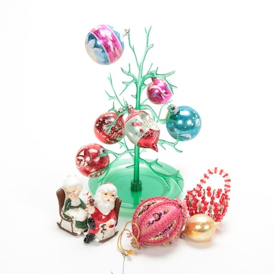 Glass Christmas Ornaments, Salt and Pepper Shakers, and Other Decor