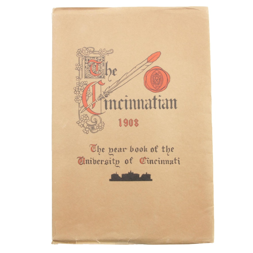 """The Cincinnatian"" University of Cincinnati Yearbook, 1908"