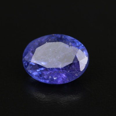 Loose 6.49 CT Oval Faceted Tanzanite
