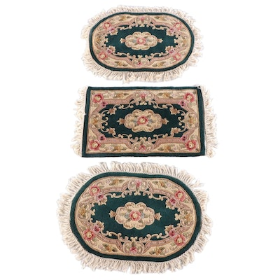 "2'8 x 3'7 Hand-Knotted Chinese Royal Palace ""Chambord"" Wool Area Rug Set"