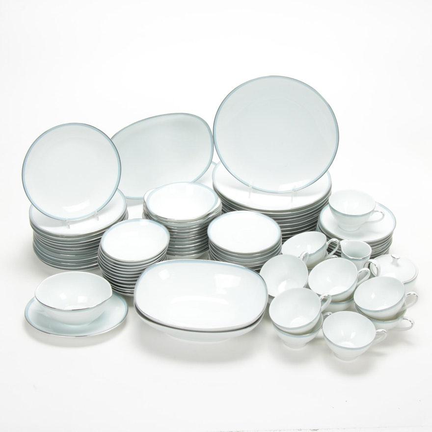 "Noritake China ""Blue Tone"" Porcelain Dinnerware"