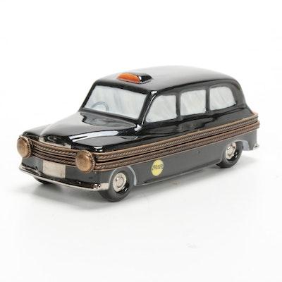 Hand-Painted Porcelain London Black Taxi Limoges Box