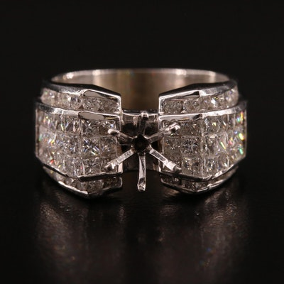 18K 2.24 CTW Diamond Semi-Mount Ring