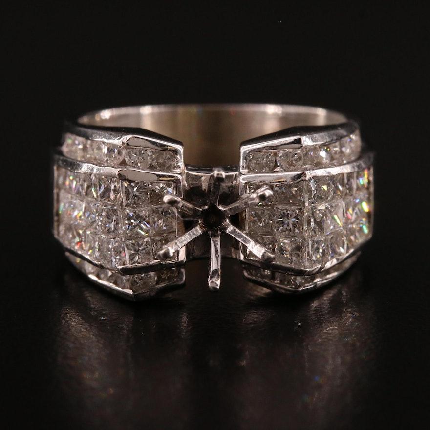 18K 2.24 CTW Diamond Semi-Mount Ring