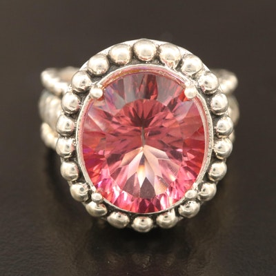 Sterling Silver Mystic Quartz Bead Ring