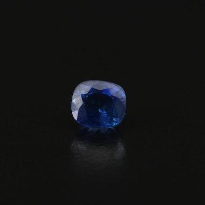 Loose 1.00 CT Cushion Sapphire