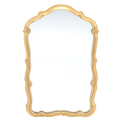 Hollywood Regency Style Gilt Composite Wall Mirror, Mid to Late 20th Century