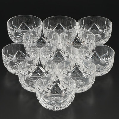 "Waterford Crystal ""Lismore"" Finger Bowls, Mid to Late 20th Century"