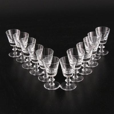 "Val St Lambert Crystal ""State Plain"" Red Wine Glasses"