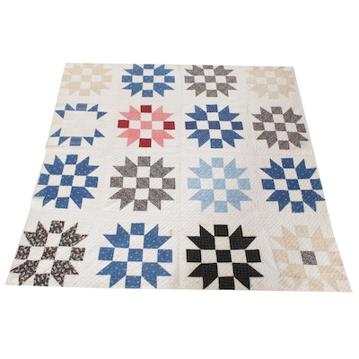 """Handmade Quilt """"Sister's Choice"""", Late 19th Century"""