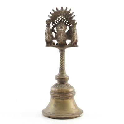 Tibetian Garuda Brass Temple Bell, Early to Mid 20th Century