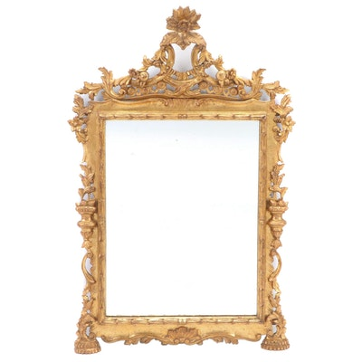 Italian Rococo Style Footed Mantel Mirror, Early to Mid 20th Century