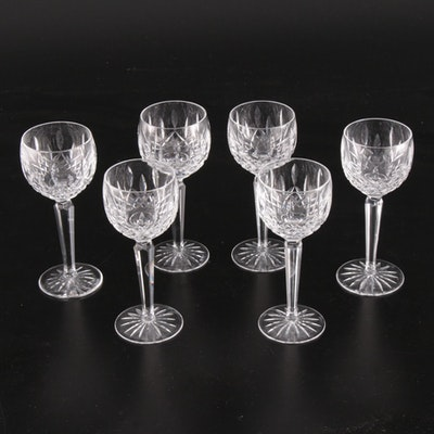"""Waterford Crystal """"Lismore"""" Wine Hock Glasses"""