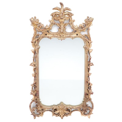 Rococo Revival Style Gilt Composite Wall Mirror, Mid to Late 20th Century