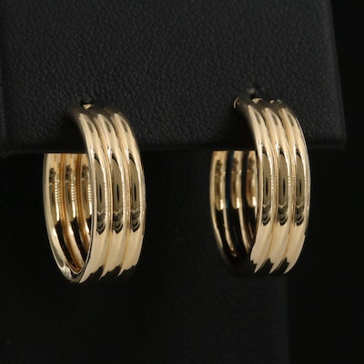 Carla 14K Triple Tube Hoop Earrings