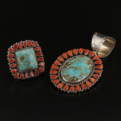 Tonya June Rafael Navajo Diné Converter Pendant and Ring