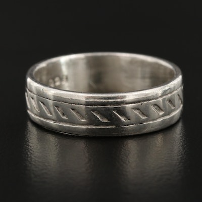 Mexican Sterling Silver Patterned Band