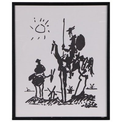 "Lithograph After Picasso ""Don Quixote"""