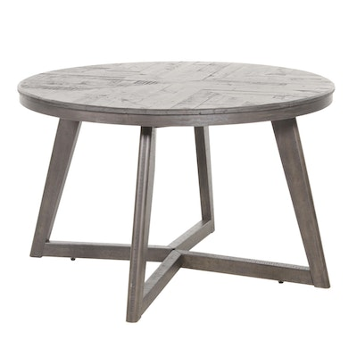 "Ashley Furniture ""Besteneer"" Round Wood Dining Table in Charcoal Gray Finish"