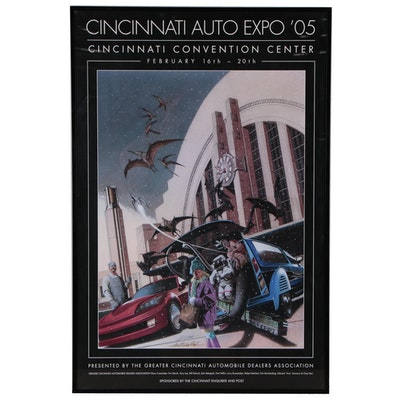 """Cincinnati Auto Expo '05"" Offset Poster"