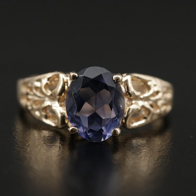 10K Yellow Gold Tanzanite Ring