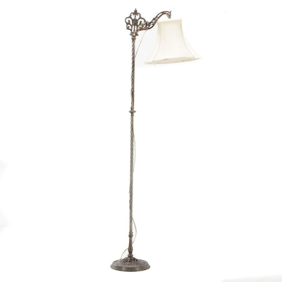 Victorian Style Cast Metal Floor Lamp, Early to Mid 20th Century