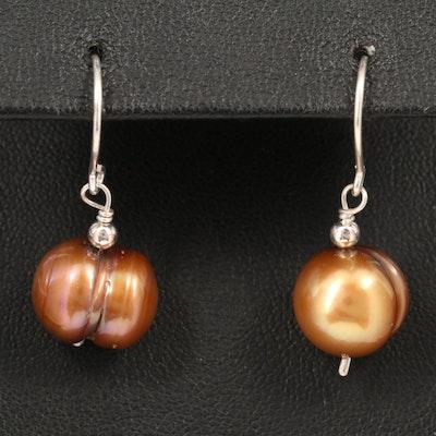 Sterling Silver Cultured Pearl Drop Earrings