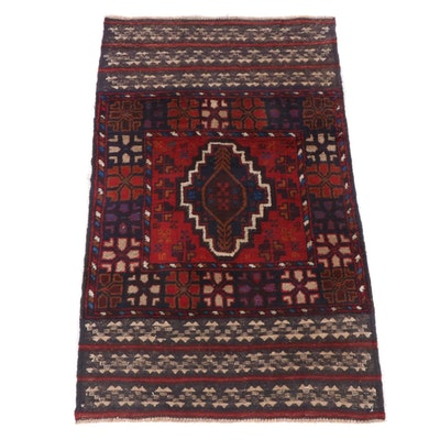 2'11 x 4'8 Hand-Knotted Afghani Tribal Baluch Rug