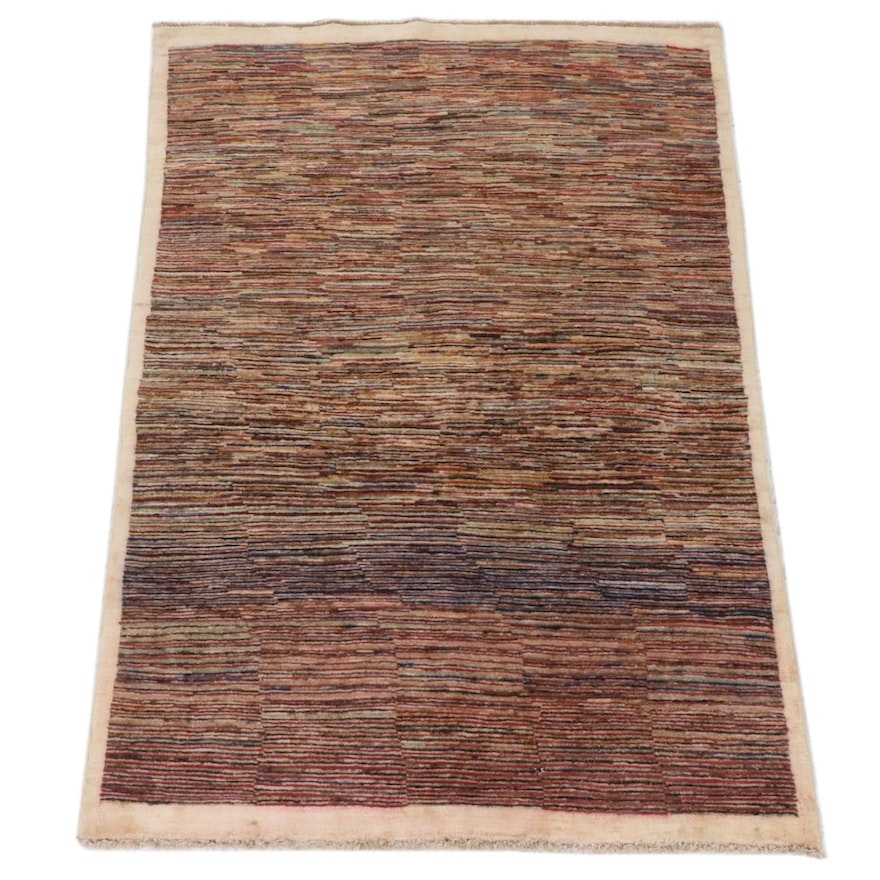 3'11 x 5'8 Hand-Knotted Afghani Gabbeh Rug