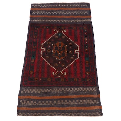 2'10 x 4'9 Hand-Knotted Afghani Tribal Baluch Rug